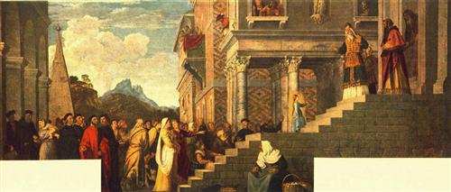 Presentation of the Virgin at the Temple - Titian