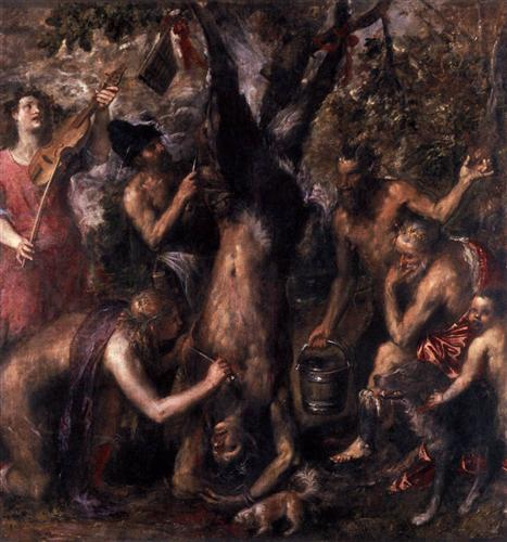 The Flaying of Marsyas - Titian