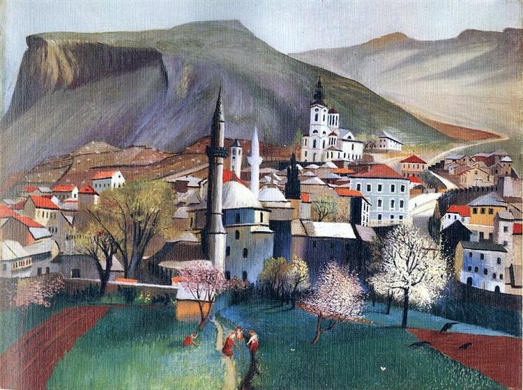Springtime in Mostar - Tivadar Kosztka Csontvary