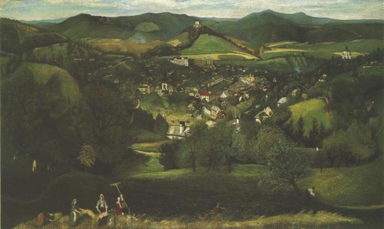View of Selemecbánya, 1902 - Tivadar Kosztka Csontvary