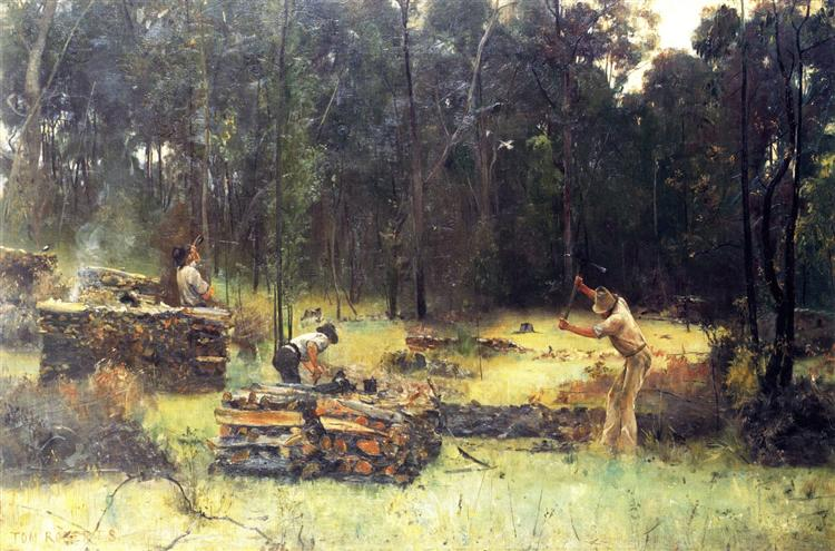 Charcoal Burners, 1886 - Tom Roberts
