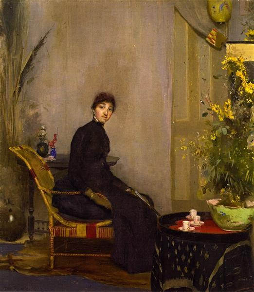 Mrs. L. A. Abrahams, 1888 - Tom Roberts