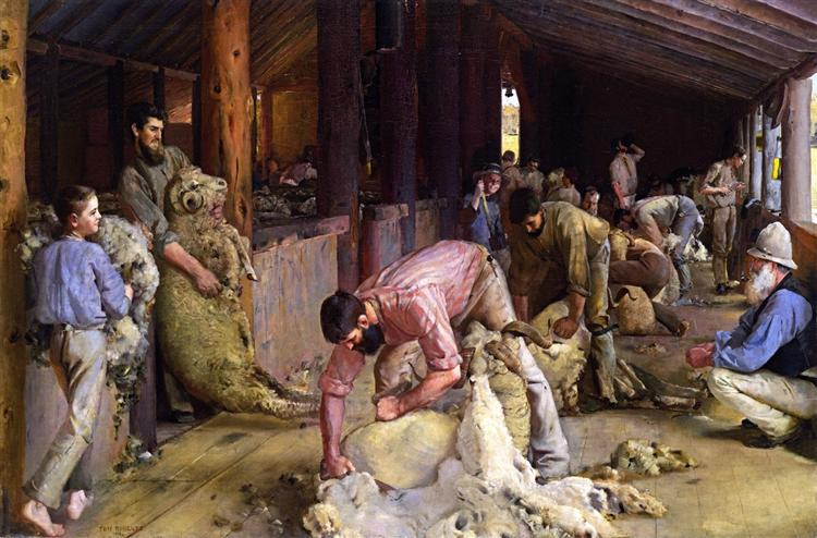 Shearing the Rams, 1890 - Том Робертс