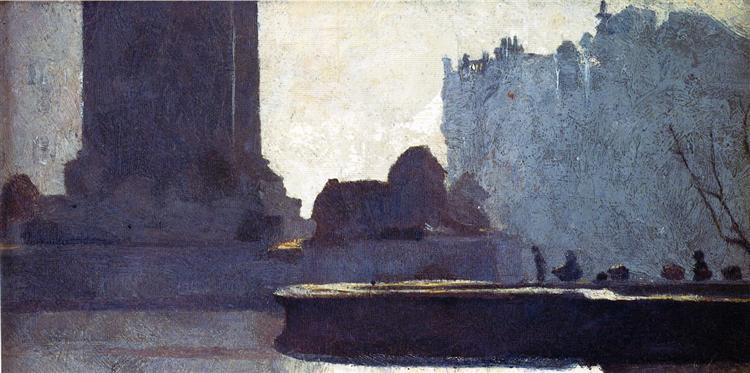 Trafalgar Square, 1884 - Tom Roberts
