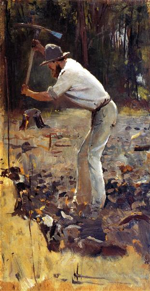 Turning the Soil, 1886 - Tom Roberts