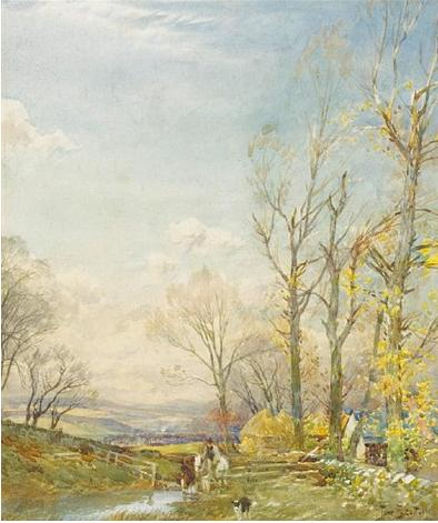 Watering the horses, 1913 - Tom Scott