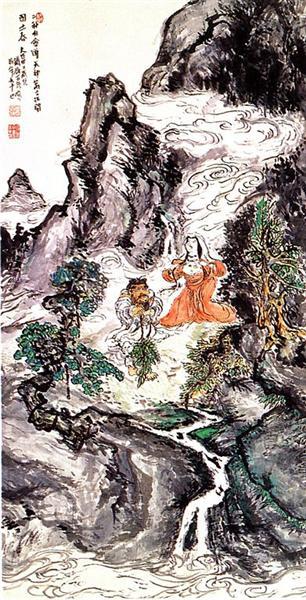 Two Divinities Dancing, 1924 - Tomioka Tessai