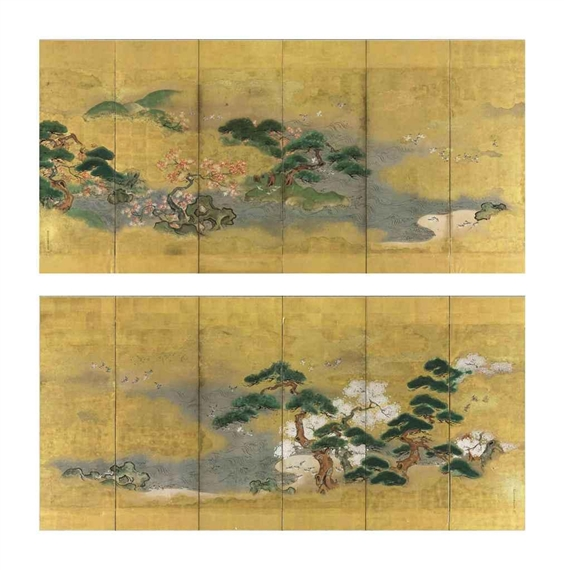 Birds and flowers in spring and autumn - Tosa Mitsuoki