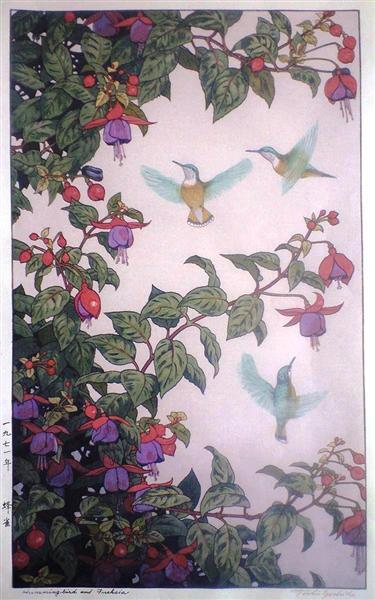 Hummingbird and Fuchsia, 1971 - Toshi Yoshida