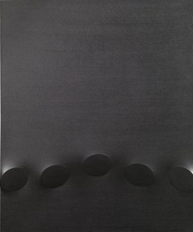 Cinque ovali neri, 2007 - Turi Simeti