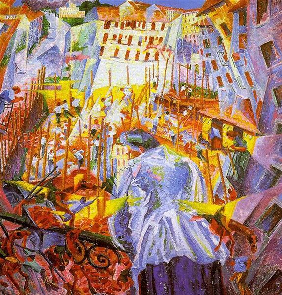 The Street Enters the House - Umberto Boccioni