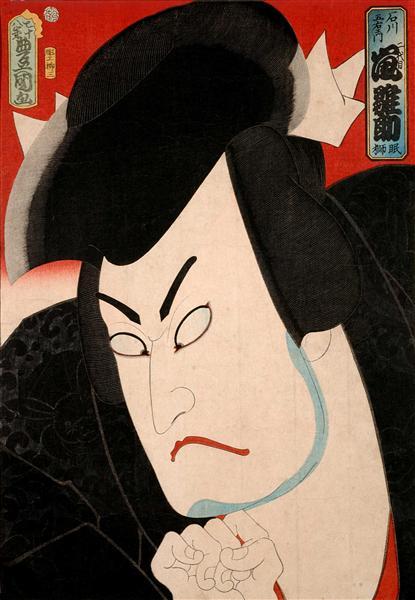 Hinasuke Arashi as Goemon Ishikawa - Utagawa Kunisada