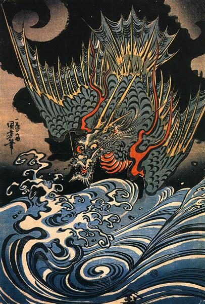 Dragon - Утагава Куниёси