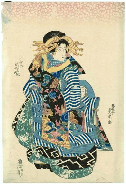 Hanamurasaki de theTamaya - Utagawa Sadatora