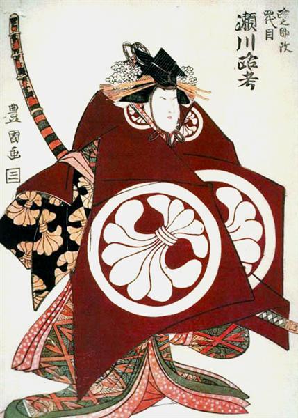 Rokō Segawa VI as Tomoe-gozen, 1800 - Utagawa Toyokuni