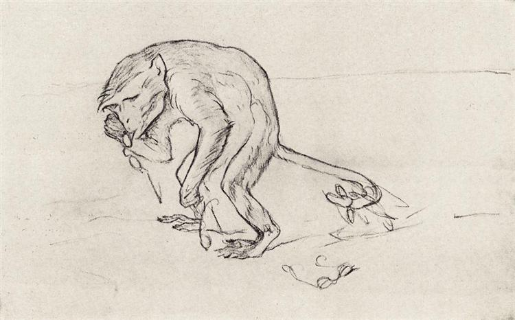 Monkey and the glasses, 1911 - Valentin Serov