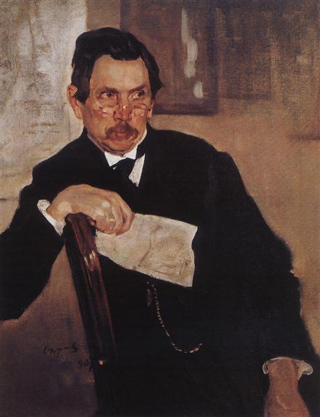 Portrait of A. Kasyanov, 1907 - Valentin Serov