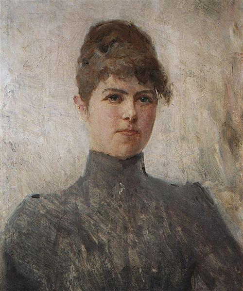 Portrait of actress M.Ya.Van-Zandt, in a marriage Cherinova, 1886 - Valentin Serov