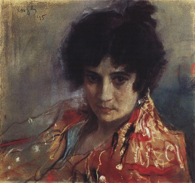 Portrait of an Unknown, 1895 - Valentin Serov