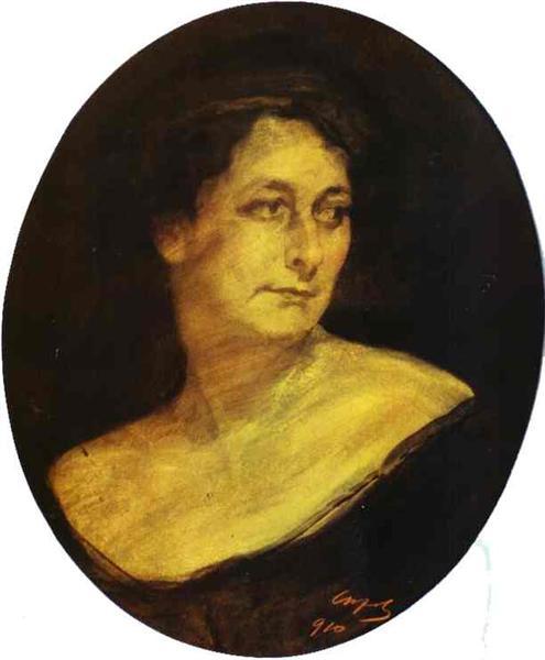 Portrait of Anna Staal, 1910 - Valentin Serov