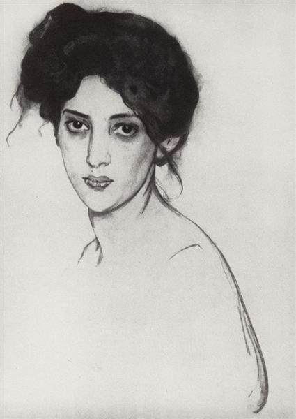 Portrait of Izabella Grunberg, 1910 - Valentin Serov