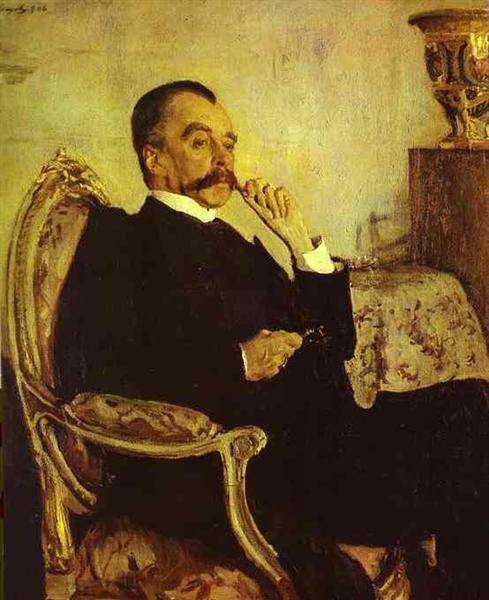 Portrait of Prince Vladimir Mikhailovich Golitsyn, 1906 - Valentin Serov