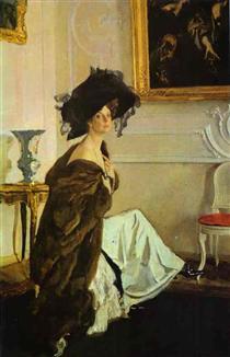 Portrait of Princess Olga Orlova - Valentin Serov