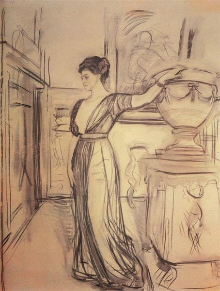 Portrait of Princess Polina Shcherbatova, 1911 - Valentin Serov