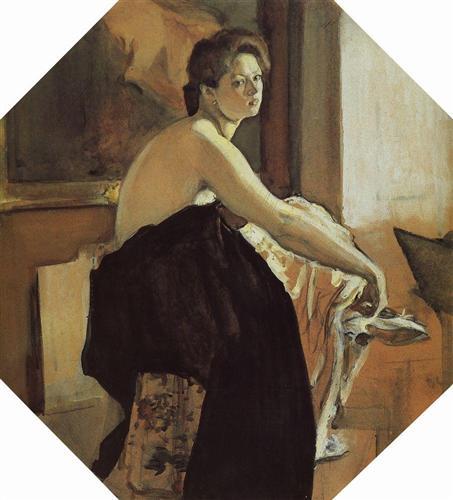 Portrait of Yelena Oliv - Valentin Serov