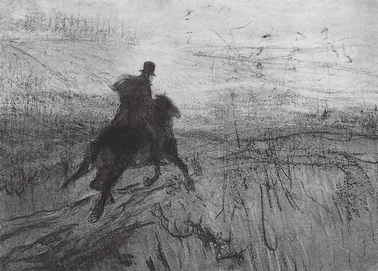 Pushkin in the village, 1899 - Valentin Serov