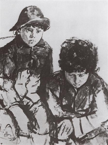Serov's Children. Yuri and Sasha, 1902 - 1904 - Valentin Serov