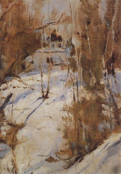 Winter in Abramtsevo, 1886 - Valentin Serov
