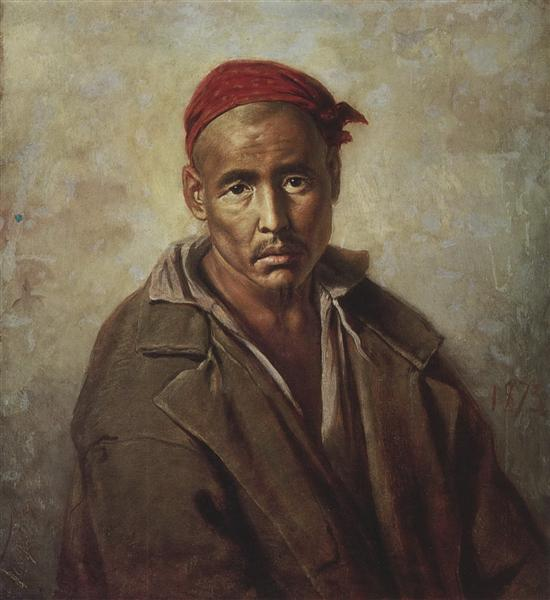 Head of a Kirgiz-convict, 1873 - Vasily Perov