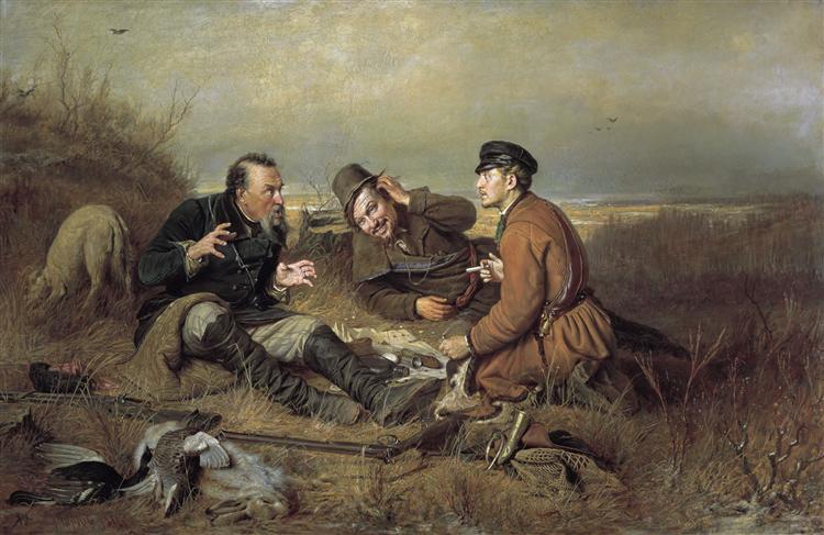 Hunters at rest, 1871 - Vasily Perov