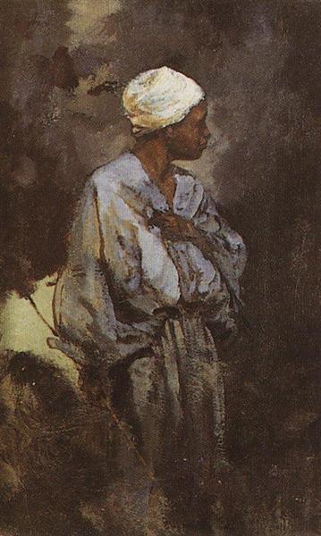 Dunkey Driver in Cairo, 1882 - Vasily Polenov