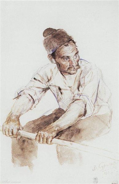 Cossack-rower, 1892 - Vasily Surikov