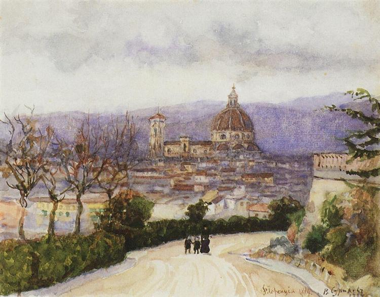 Florence. Walk., 1884 - Vasily Surikov