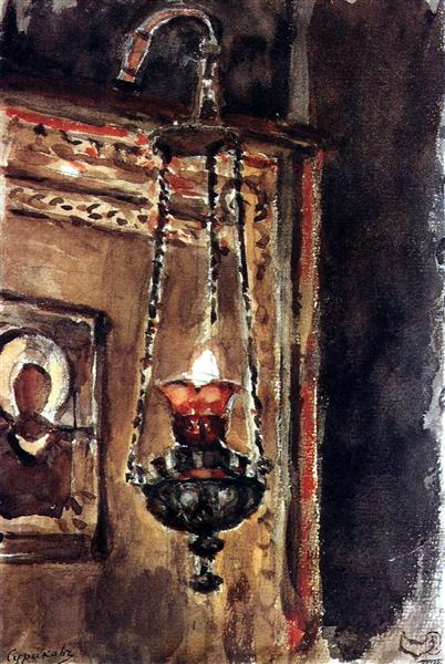 Icon-lamp, c.1881 - Vasily Surikov
