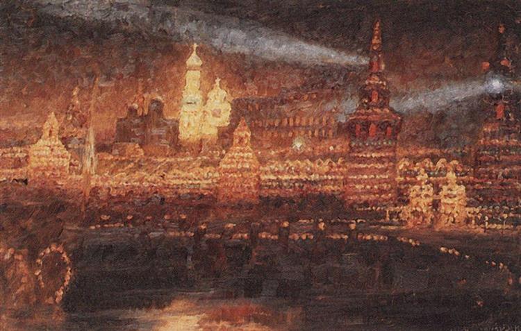 Illumination of Moscow, 1882 - Vasily Surikov