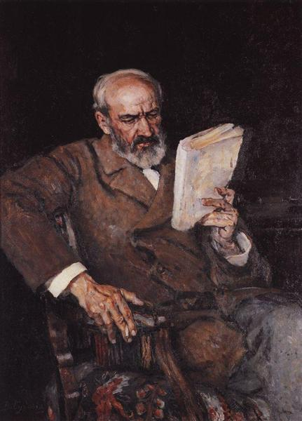 Portrait of doctor A. D. Yesersky, 1910 - Vasily Surikov