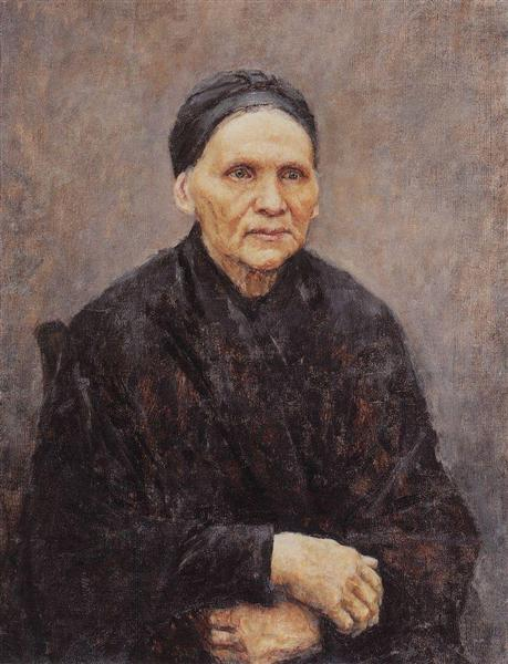 Portrait of P. F. Surikova (Artist's Mother), 1887 - Vasily Surikov