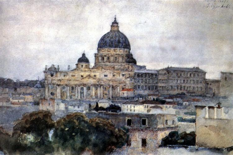 Saint Peter's Cathedral in Rome, 1884 - Vasily Surikov