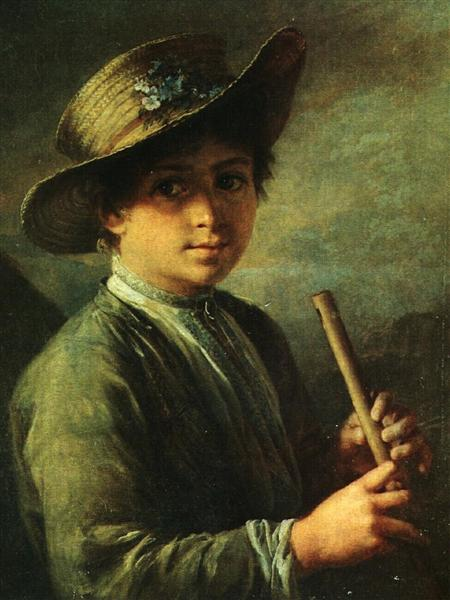 Boy with zhaleyka - Василь Тропінін