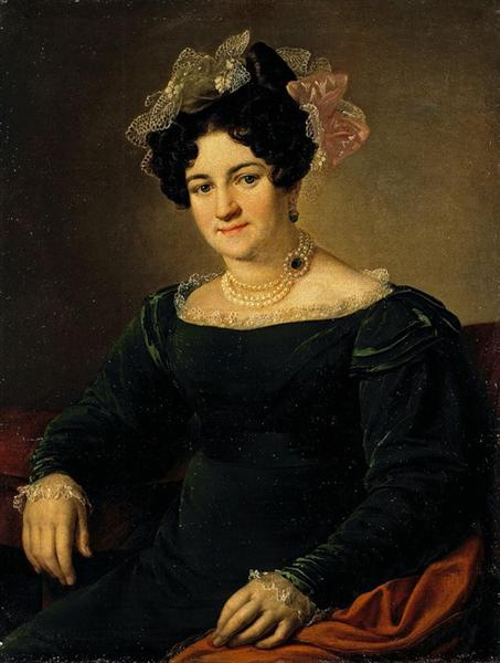 Portrait of a P.I. Sapozhnikova, 1826 - Vasily Tropinin