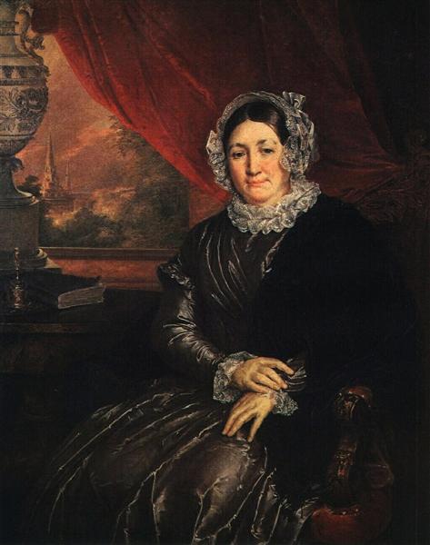 Portrait of E. P. Protasyeva - Vasily Tropinin