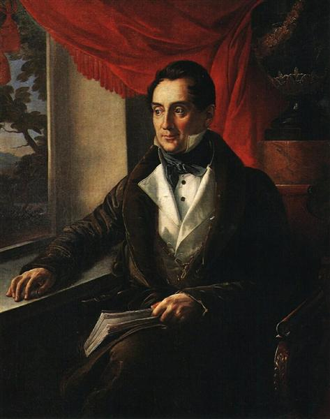 Portrait of P. N. Zubov, 1839 - Василь Тропінін