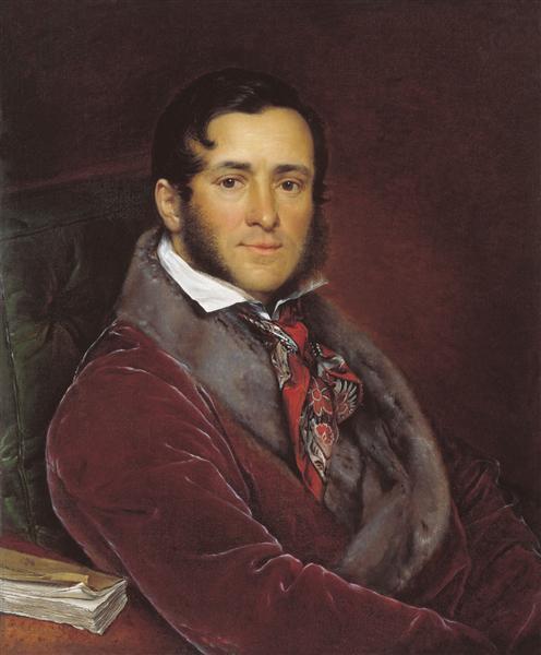 Portrait of Semyon Nikolayevich Mosolov, 1836 - Wassili Andrejewitsch Tropinin