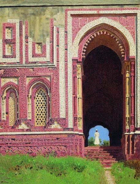 Gate near the Qutub Minar. Old Delhi, 1875 - Vasily Vereshchagin