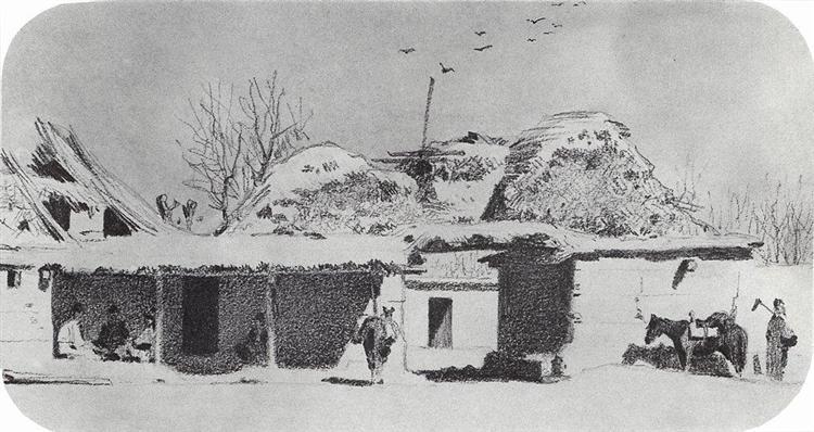 Inn near Tashkent, 1867 - Vasily Vereshchagin