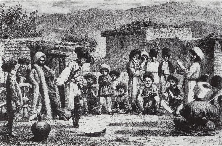 Lezginka, 1864 - 1867 - Vasily Vereshchagin